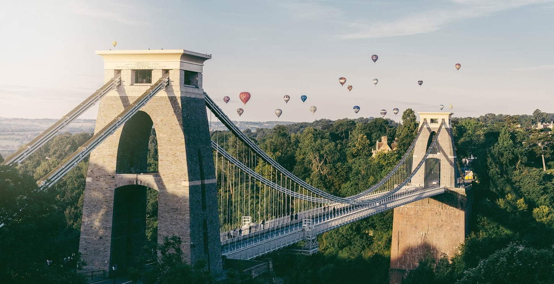 Clifton suspension bridge in bristol near student accommodation