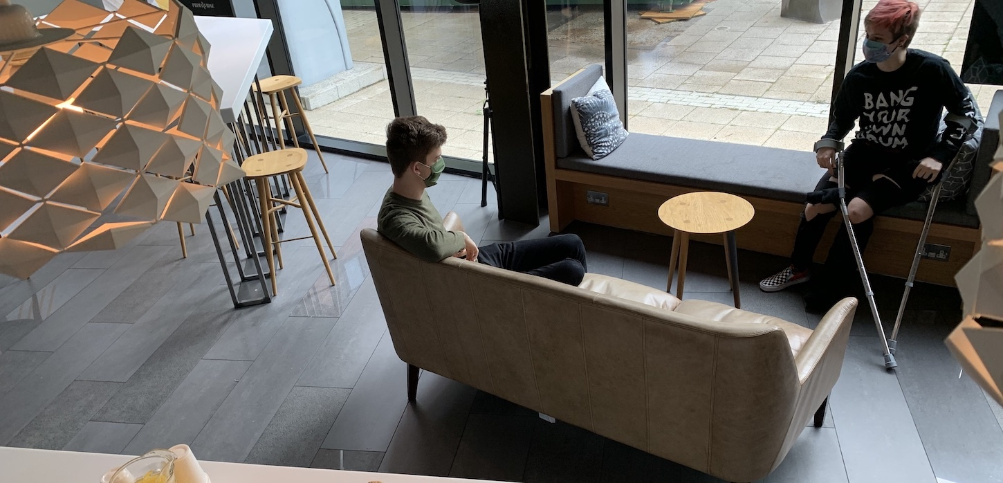 people social distancing in student accommodation