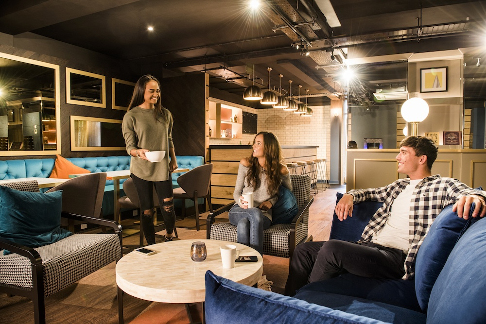 Common space in student accommodation
